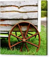 Old Cart Wheel Canvas Print