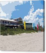 Old Casino On An Atlantic Ocean Beach In Florida Canvas Print