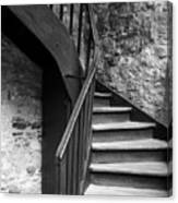 Old Castle Stairway Canvas Print