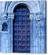 Old Cathedral Door In Barcelona Canvas Print
