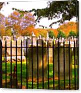 Old Cemetary In Newport Rhode Island Canvas Print