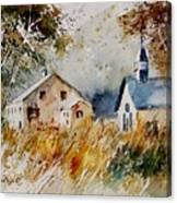 Old Chapel In Herhet Canvas Print