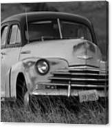Old Chevy By The Levee Canvas Print