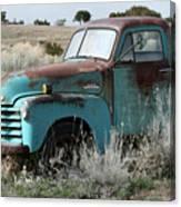 Old Chevy Farm Truck In The Field Canvas Print