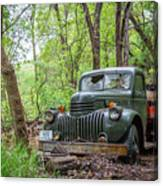 Old Chevy Oil Truck 1  Canvas Print