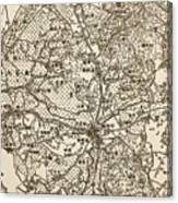 Old Chinese Map Canvas Print