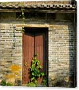 Old Chinese Village Door Series Sixteen Canvas Print
