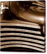 Old Chrysler Grille Canvas Print