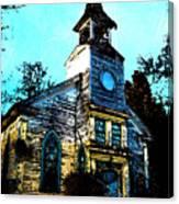 Old Church At Oxford Maryland Canvas Print
