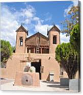 Old Church In Chimayo  Canvas Print