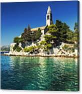 Old Church On Croatian Island Canvas Print