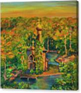 Old Church On The River Canvas Print
