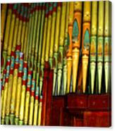 Old Church Organ Canvas Print
