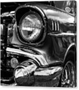 Old Classic Car In Black And White Canvas Print