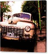 Old Classic Dodge, On The Streets Of Buenos Aires Canvas Print