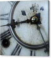 Old Clock Face Canvas Print