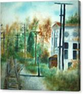 Old Cn Station Fort Langley Bc Canvas Print