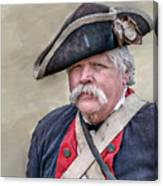 Old Colonial Soldier Portrait Canvas Print