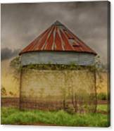 Old Corn Crib In The Cloudy Sky Canvas Print