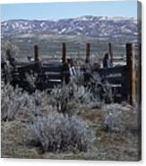 Old Corral Canvas Print