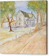 Old Country House Canvas Print