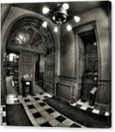 Old Courthouse Entryway Canvas Print