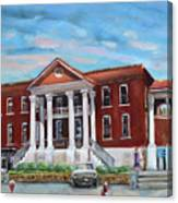Old Courthouse In Ellijay Ga - Gilmer County Courthouse Canvas Print