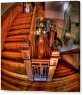 Old Courthouse Stairway Canvas Print