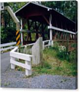 Old Covered Bridge In Pennsylvania  Canvas Print