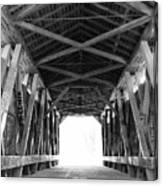 Old Covered Bridge Canvas Print
