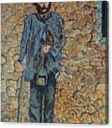 Old-crafts-the-lamplighter-italy-1800 Canvas Print