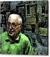 Old Craftsman Portrait Canvas Print