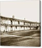 Old Cuartel. Mexican Soldiers Barracks Monterey Circa 1885 Canvas Print