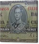 Old Currency  Canvas Print