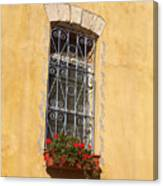 Old Decorated Window In Safed Canvas Print