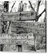 Old Directional Signs At Fort Cooper  Canvas Print