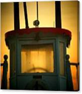 Old Dixie Boat Cab Sunrise Canvas Print