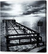 Old Dock Bw Canvas Print