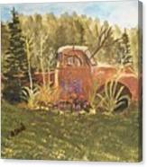 Old Dodge Truck In Garden Canvas Print