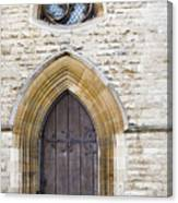 Old Door And Window York Canvas Print