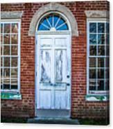 Old Door And Windows Canvas Print