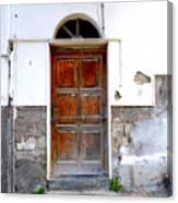 Old Door In Sorrento Canvas Print
