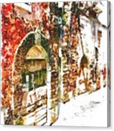 Old Doors Of The Houses Of The Village Canvas Print