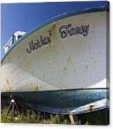 Old Dry Docked Boat Canvas Print