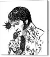Old Elvis Canvas Print