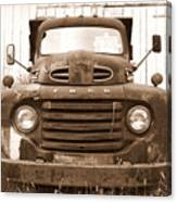 Old F1 Sepia Ford Canvas Print