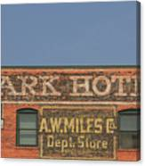 Old Faded Advertisement On An Old Brick Building Canvas Print