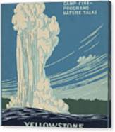 Old Faithful At Yellowstone Canvas Print