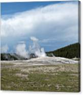 Old Faithful Before Canvas Print