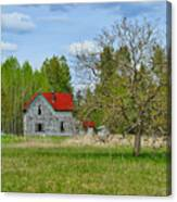 Old Farm House In Langley Canvas Print